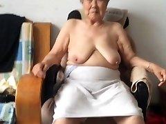 Asian 80+ Grannie After bath