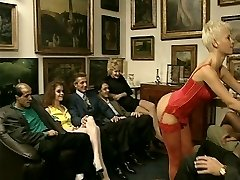 Hot Lady in Red Heat Up This Boring Party
