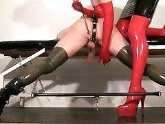 My slave femdom video - Masturbating my rubber slut
