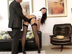 UK milf nurse tempts lucky british senior