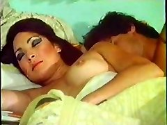 Vintage girl woken up for hump by her husband on bed