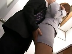 Haruki Sato gets screwed in her spouse�s office