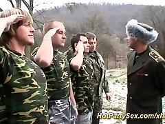 Nymph gets soldiers cum