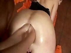 Girl/girl double anal fist