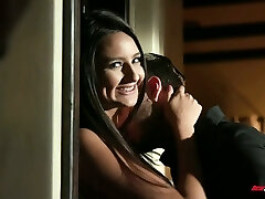 Cuckold is watching young wife Eliza Ibarra sucking a big dick of one handsome man