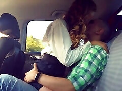 Sex in the van in the back seat. After graduation. Groans. Girl is pouncing.