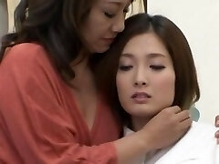 A pair of Japanese lesbians luvs kissing and hugging