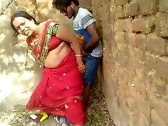 Indian village woman got caught