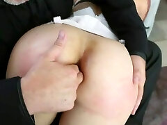 Super-hot Babe Lays Across Guy's Lap For Ass Finger and Fuck