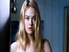 Jess Weixler naked lounging on her back as a guy squeezes and