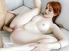 BraceFaced - Scarcely Legal Ginger Teen Bounces On a Huge Cock