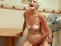 Insatiable Granny Just Enjoys Cock !