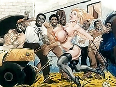 노예에 속박되어 잇 만화 예술
