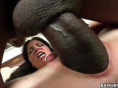 Rebeca Linares screams on Monster Man Sausage