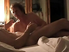 My silly aunt's best friend have fun with my cock. Hidden web cam