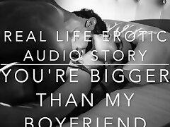 YOU'RE BIGGER THAN MY Bf - Real Life Erotic Audio ASMR