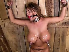 British pornstar bondage and cumshot