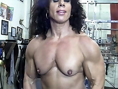 Naked Woman Bodybuilder Kiss My Naked Muscles