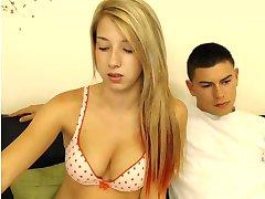young sexy blonde USA  homemade couple camsex