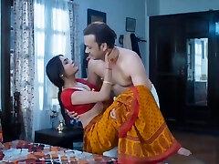 Γυναίκα Σπιτικό Σεξ πολύ ζεστό κόκκινο saree πλήρη ειδύλλιο διάολο mastram web series