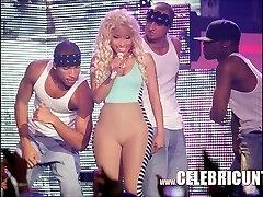 Ebony Celebrity Nicki Minaj Exposed Juicy Tits And Cumshot Selfie