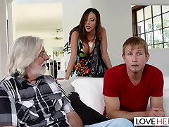 LoveHerFeet - Step-mom Wants My Cum On Her Feet