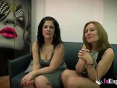 Nuria and Montse's 3some with Julian's jizz-shotgun