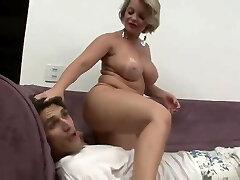 Step mom punished her bimbo step son