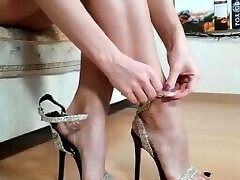 Perfect MILF feet from IG high-heeled shoes toes arches