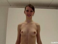 Teen Mona naked at casting