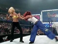 trish and lita vs stacey and torrie wrestling divas brassiere and undies match