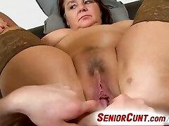 Big lady Eva aged vagina fingered and toyed pov zoom