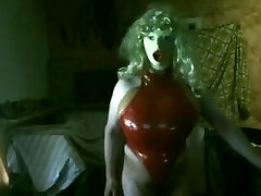 Huge fake Boobs in red rubber Figure string