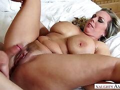 Mega busty stepmom Amber Lynn Bach is fucked by super-naughty 19 yo stepson