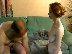 Young French red-haired learns how to fuck