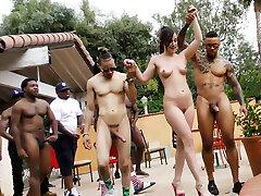 Jennifer White Bi-racial Orgy