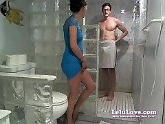 Lelu LoveWEBCAM Facial Bathroom Poledancing