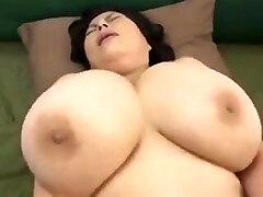 Japanese Mature with yam-sized tits