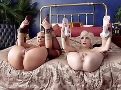 Step-Mother and Step-Daughter Romp Slaves