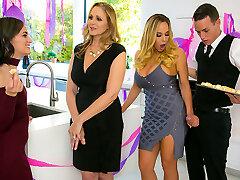 Julia Ann & Olivia Austin & Justin Hunt in My Stepmoms Social Bar - BrazzersNetwork