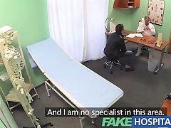 FakeHospital Nurse fucks patient to get a sperm sample