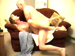 Older couple having sex