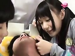 Beautiful Japanese Sluts Dominating A Guy