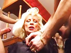 Eva Delage - French Mature  DP in the Bar