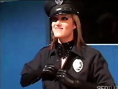 Sexy blonde cop gets this witness to talk and hardcore fuck her