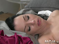 MOM Brunette with BIg Tits get a Creampie