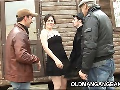Slutty wife takes three cocks