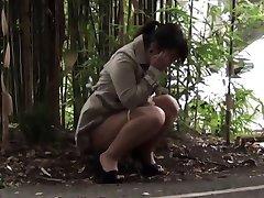 Asian hos covert pissing