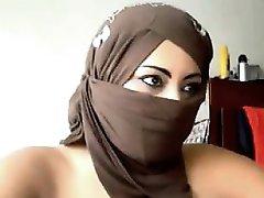 Arab Woman Flashing The Camera