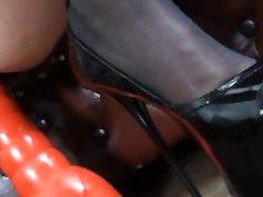 Michaela O Brilliant - Big Titted Milf on an Orange Dildo Cone